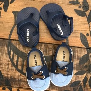 🤱BUNDLE Baby boat shoes & flip flops by Old Navy